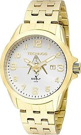 Technos Relógio Masculino Technos Analógico 2115Kny/M4K Ouro