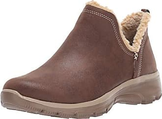bc89d1ecb26 Skechers Womens Easy Going-Buried-Scooped Collar Bootie with Faux Fur Trim  Ankle Boot