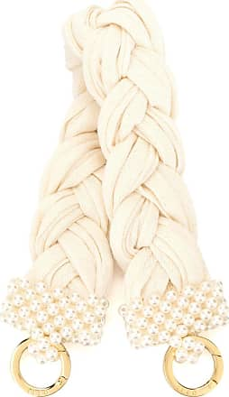 0711 small bead-embellished handle - White