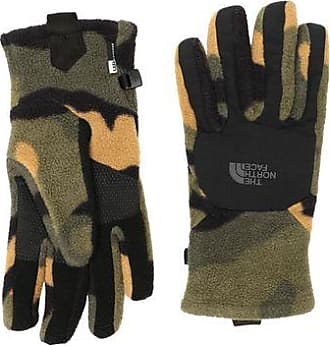 The North Face womens Denali eTIP Gloves burnt olive green camo fleecehandschuhe