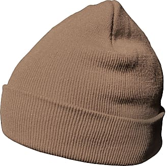 DonDon winter hat beanie warm classical design modern and soft sand brown