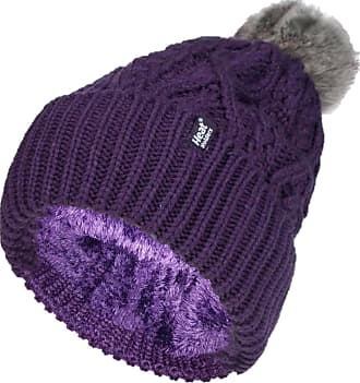 Heat Holders 1 Ladies Genuine Heatweaver Thermal Winter Warm HAT 5 Variations - Alesund, Nora, Solna, Areden, Lund (Purple - SOLNA)