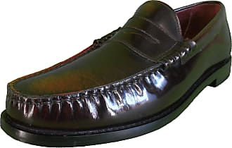 Ikon Original Mens Oxblood Rub Off Penny Loafers (8)