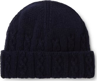Inis Meáin Cable-knit Merino Wool Beanie - Navy