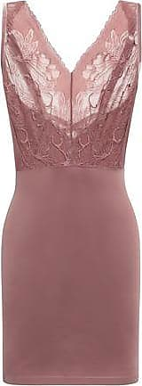 Wolford Wolford Woman Paneled Lace And Stretch-jersey Slip Dress Antique Rose Size 36