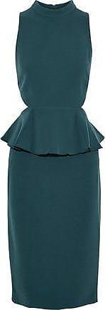 Rachel Zoe Rachel Zoe Woman Karyn Cutout Crepe Peplum Dress Petrol Size 10