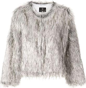 Unreal Fur metallic textured jacket - Grey