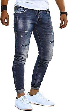 LEIF NELSON Mens Jeans Trousers Pants LN-9910 Blue W33/L30