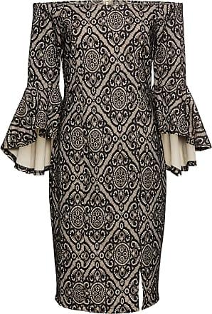 5bef757481d927 BODYFLIRT boutique Volant Kleid in beige von bonprix