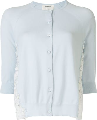 Onefifteen lace detail cardigan - Blue
