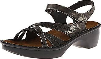 Naot Womens Paris Wedge Sandal, Metal, 35 EU/4 M US
