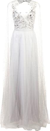 Marchesa long empire line dress - Metallic