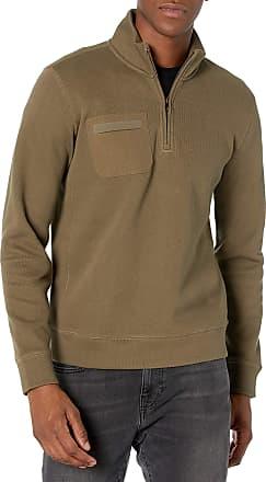 Billy Reid Mens Pullover Fleece Quarter Zip Hoodie Sweatshirt