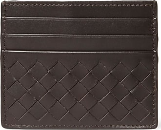 Bottega Veneta Intrecciato Woven Leather Cardholder - Brown