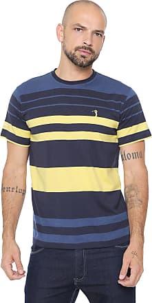 Aleatory Camiseta Aleatory Listrada Azul/Amarela