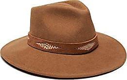 ále by Alessandra Womens Cobra Adjustable Felt Hat with Suede Trim, Tobacco, Adjustable Head Size