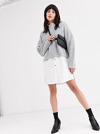 Weekday Gerippter Pullover mit Raglan-Ärmeln in Grau