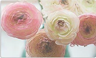 KESS InHouse Debbra ObertanecPastel Ranunculus Pink White Artistic Aluminum Magnet, 2 by 3, Multicolor