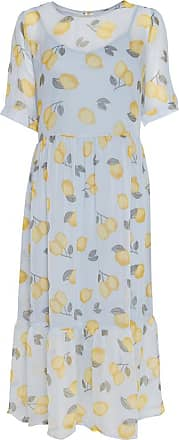 Ichi Floaty Sommerkleid mit Zitronen - 36