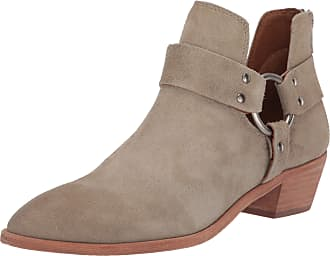 Frye Womens Ray Harness Back Zip Ankle Boot, Light Grey, 5 UK