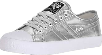 Gola Coaster Metallic, Womens Low-Top Sneakers, Silver (Silver/Silver), 4 UK (37 EU)