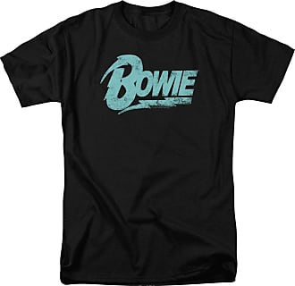 Popfunk David Bowie Logo Unisex Adult T Shirt for Men and Women Black