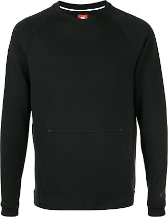 Nike Fleece-Pullover mit Rundhalsausschnitt - Schwarz