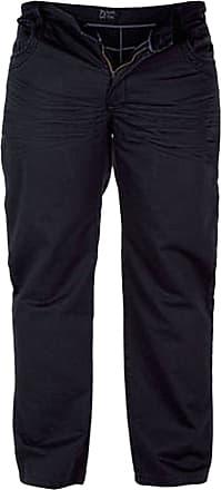 Duke London Mens King Size Jeans Trouser Duke Taylor Soft Material Black 42 to 56 (44S)