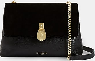 Ted Baker Suede Padlock Cross Body Bag in Jet HELENA, Womens Accessories