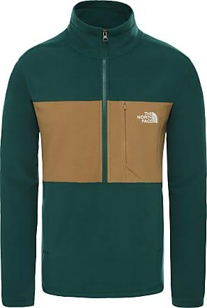 The North Face Blocked Tka Fleeceshirt Herren in night green-british khaki, Größe XL