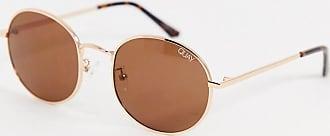 Quay Modstar round sunglasses in gold