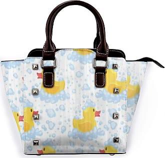 Browncin Yellow Rubber Duck With Foam Funny Animal Detachable Fashion Trend Ladies Handbag Shoulder Bag Messenger Bags