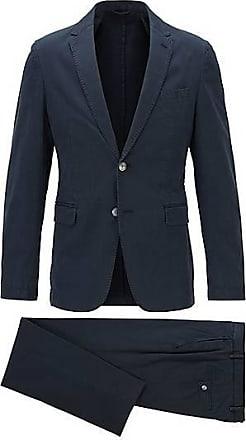 BOSS Slim-Fit Anzug aus Stretch-Baumwolle