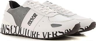 Versace Jeans Couture Sneaker für Herren, Tennisschuh, Turnschuh, Weiss, Leder, 2017, 41 42 43