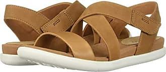 Ecco Womens Womens Damara Crisscross Flat Sandal Lion/Cashmere 37 M EU (6-6.5 US)