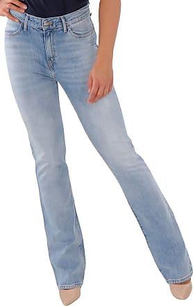 Wrangler Womens Jeans High Rise Bootcut Fiji Bell Pants Blue - Blue - 33W/30L