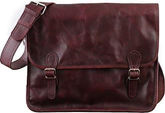 eeb5dc394d58d PAUL MARIUS LA SACOCHE Herbstbraun (L) Vintage-Ledertasche Handtasche  Schultertasche Herbst braun PAUL