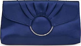 Jessica McClintock Scarlette Pleated Ring Clutch, Navy
