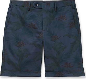 Zanella Slim-fit Printed Cotton-twill Shorts - Navy
