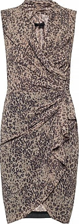 Allsaints Cancity Dress With Leopard Print Womens Brown