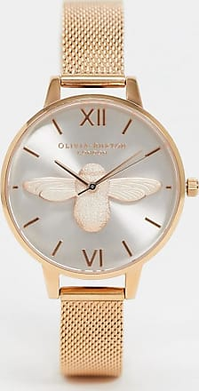 Olivia Burton OB16AM161 3D Bee with rose gold mesh strap watch