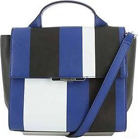 Kendall + Kylie Bolsa Cruzada de Piel con Bloques de Color<br>Azul y Negro<br>30 x 33 x 16 cm