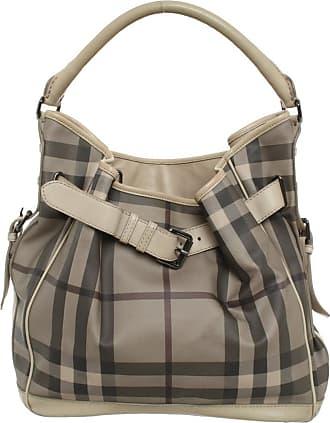 Burberry gebraucht - Burberry-Handtasche aus Canvas - Damen - Bunt / Muster - Canvas