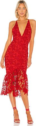X by NBD Hayden Midi Dress in Red