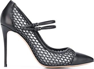 Casadei mesh 110mm stiletto pumps - Black