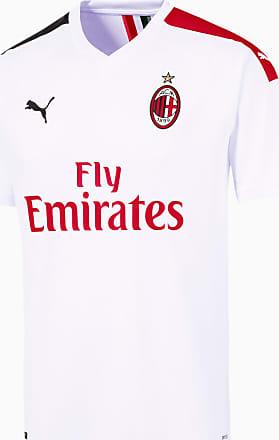 Puma AC Milan Away Replica Mens Jersey, White/Tango Red, size 2X Large, Clothing