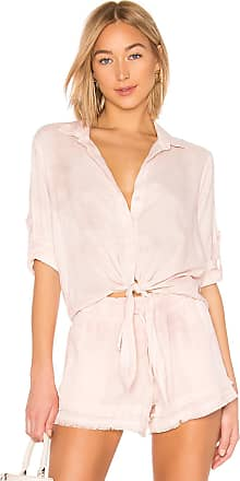 Bella Dahl Tie Front Button Down Top in Pink