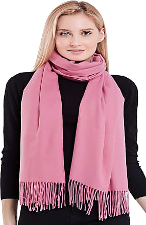 CJ Apparel Rose Pink Thick Solid Colour Design Cotton Blend Shawl Pashmina *NEW*(Size: One Size)