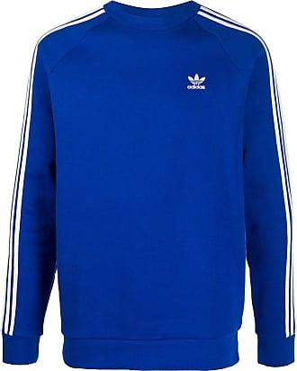 adidas pullover weiße streifen sind blau waschen