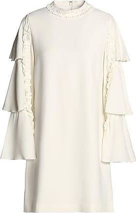 Alexis Alexis Woman Ruffle-trimmed Tiered Crepe Mini Dress Off-white Size XS